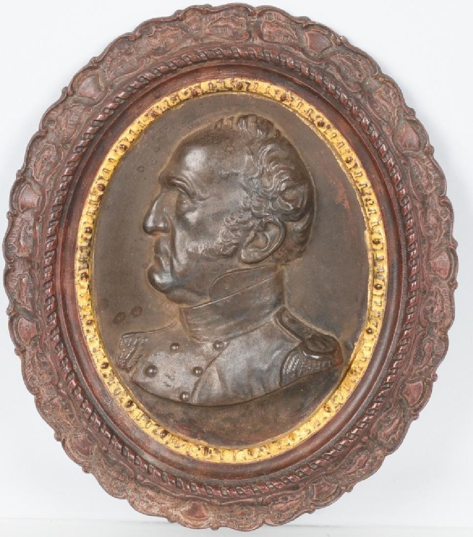 1852 GEN WINFIELD SCOTT CAST IRON WALL PLAQUE