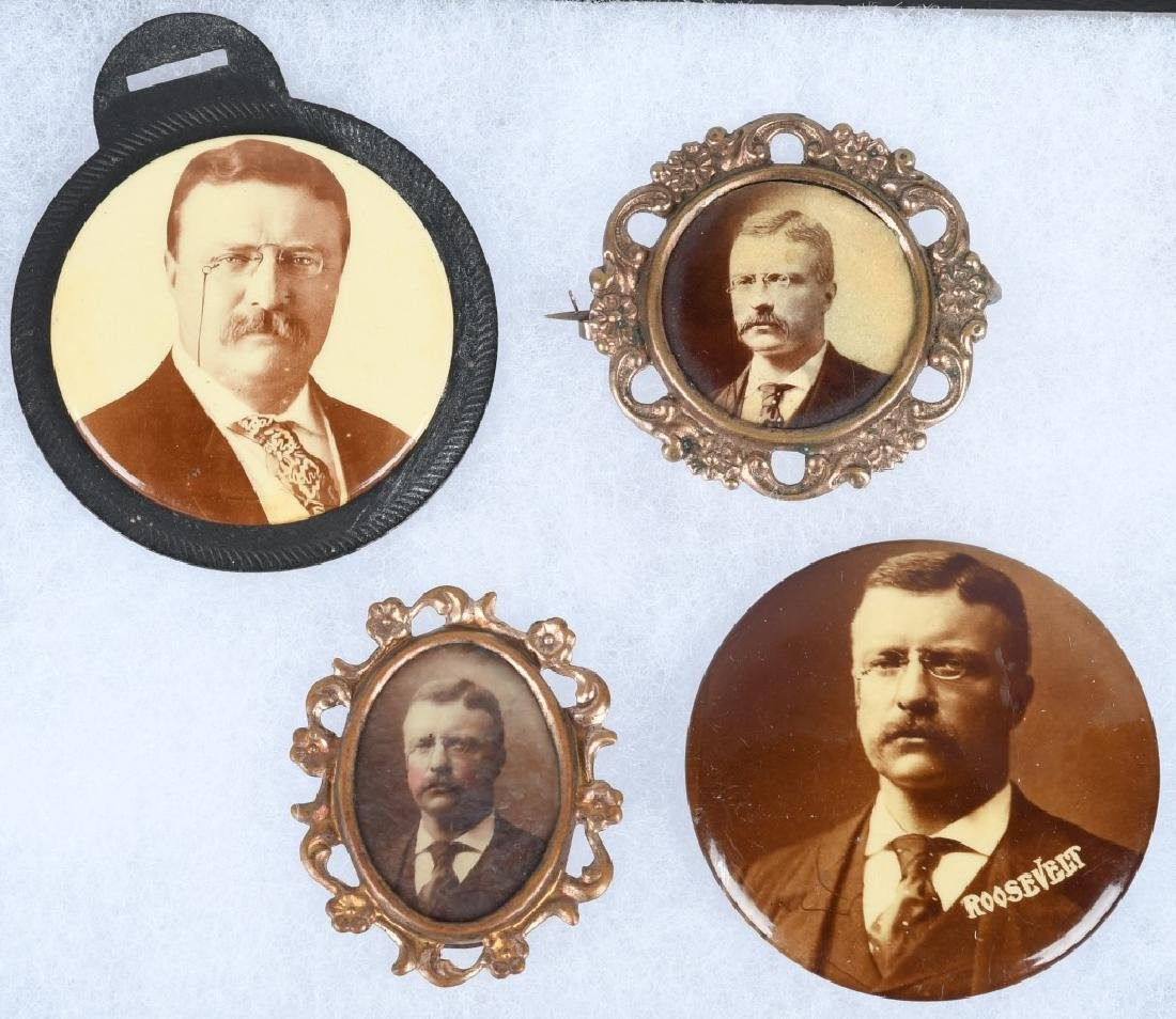 TEDDY ROOSEVELT PHOTOGRAPHIC PINS