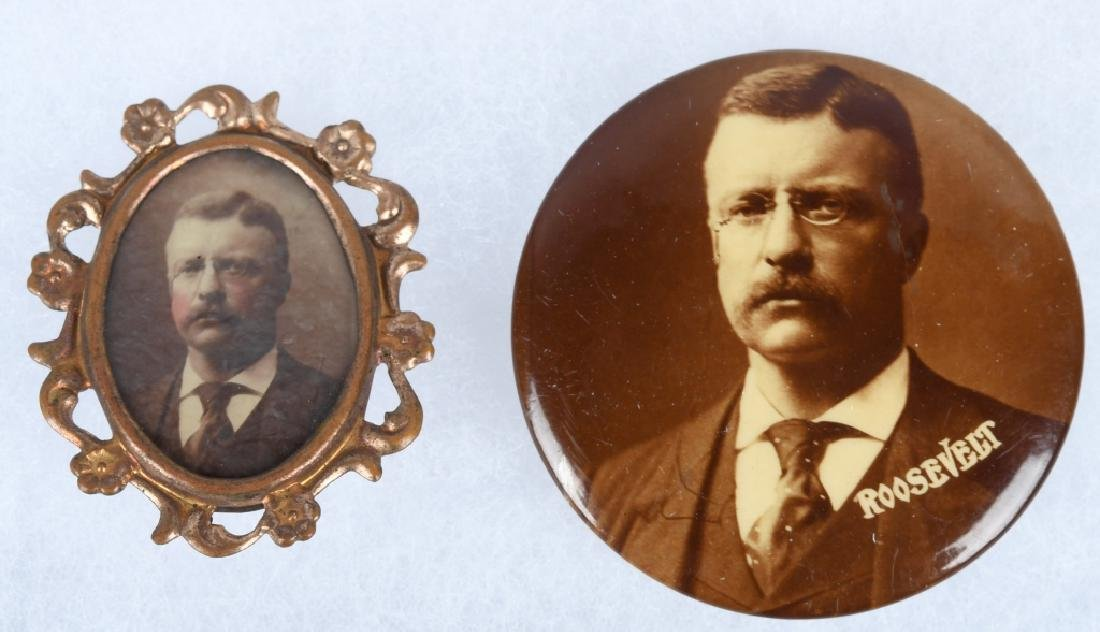 TEDDY ROOSEVELT PHOTOGRAPHIC PINS - 2