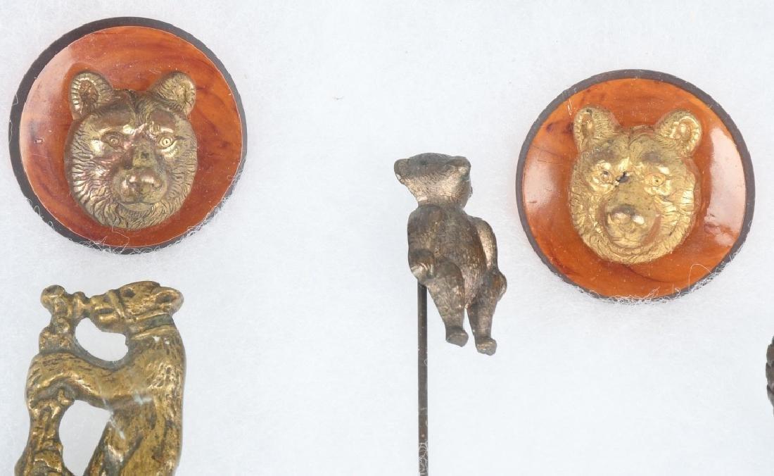 10 1900-10 TEDDY BEAR STICK PINS, BUTTONS, & MORE - 2