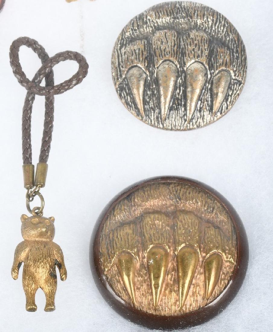10 1900-10 TEDDY BEAR STICK PINS, BUTTONS, & MORE - 4