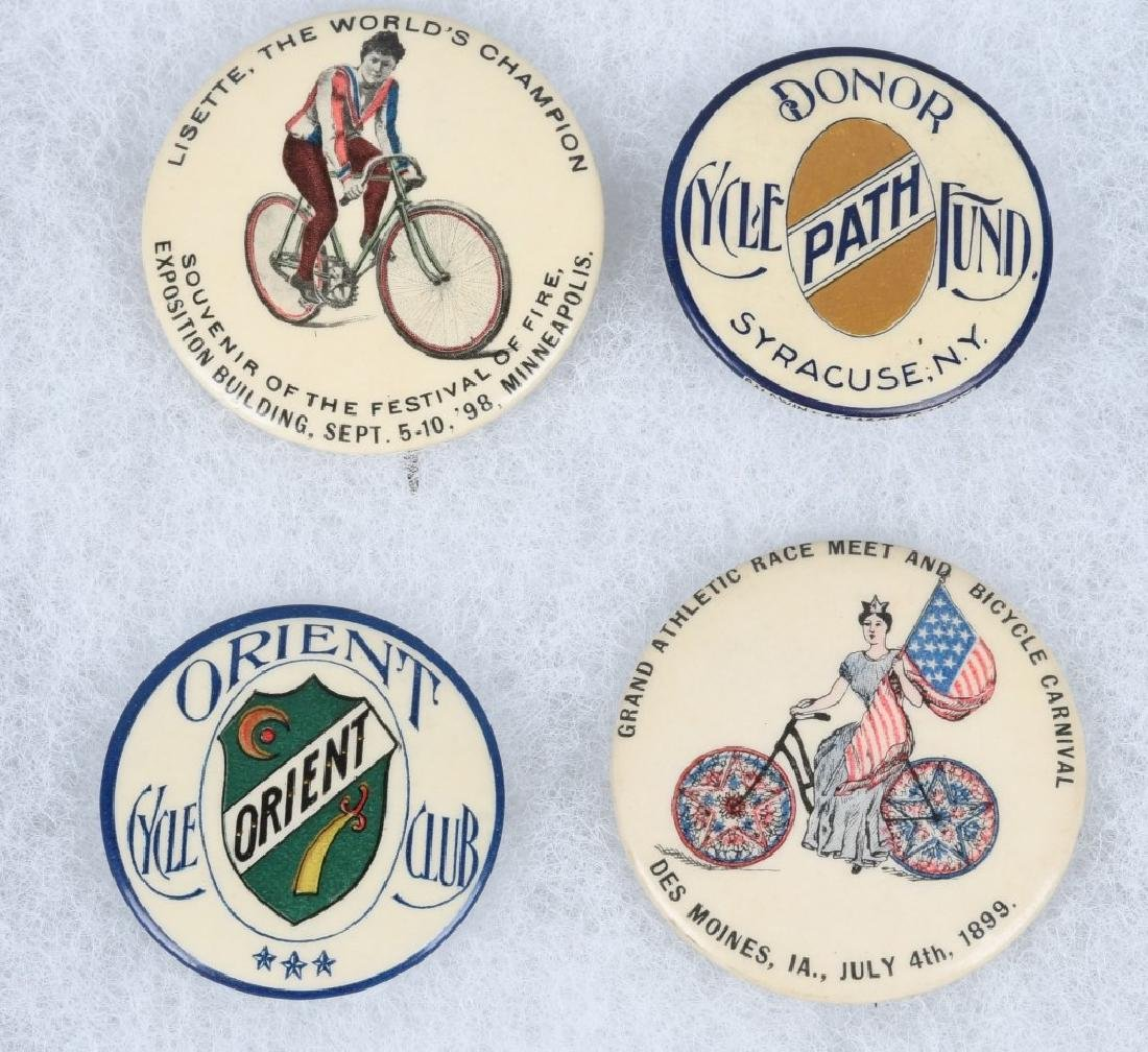 4- 1898-1899 LARGE  BICYCLE PINBACKS