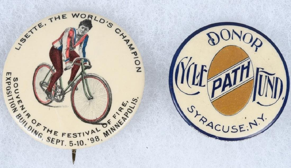 4- 1898-1899 LARGE  BICYCLE PINBACKS - 2