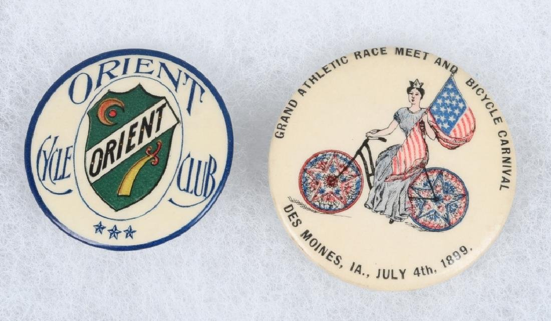 4- 1898-1899 LARGE  BICYCLE PINBACKS - 4