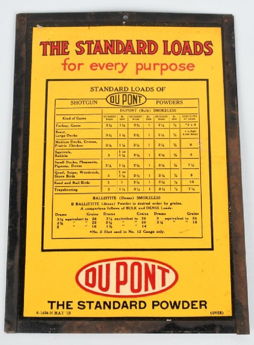 DUPONT SHOTGUN POWDER LOAD CHART