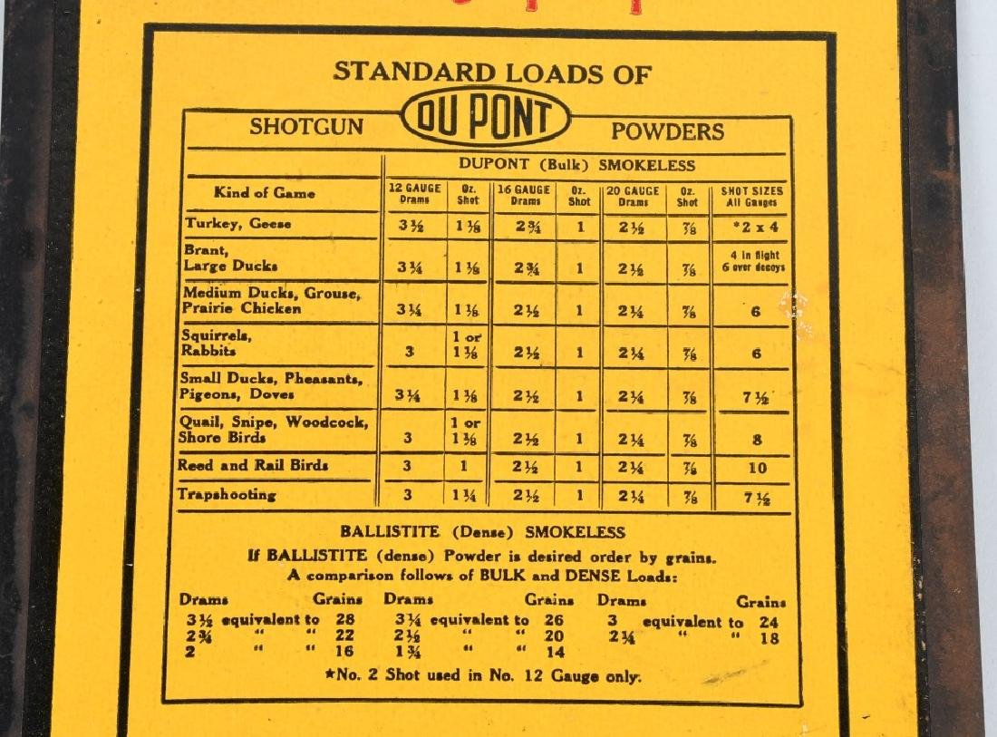 DUPONT SHOTGUN POWDER LOAD CHART - 2