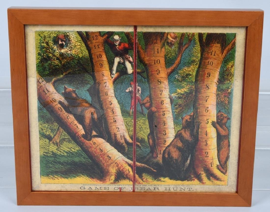 1870 MCLOUGHLIN BROS. GAME OF BEAR HUNT