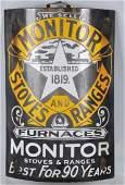MONITOR STOVES & RANGES PORCELAIN SIGN