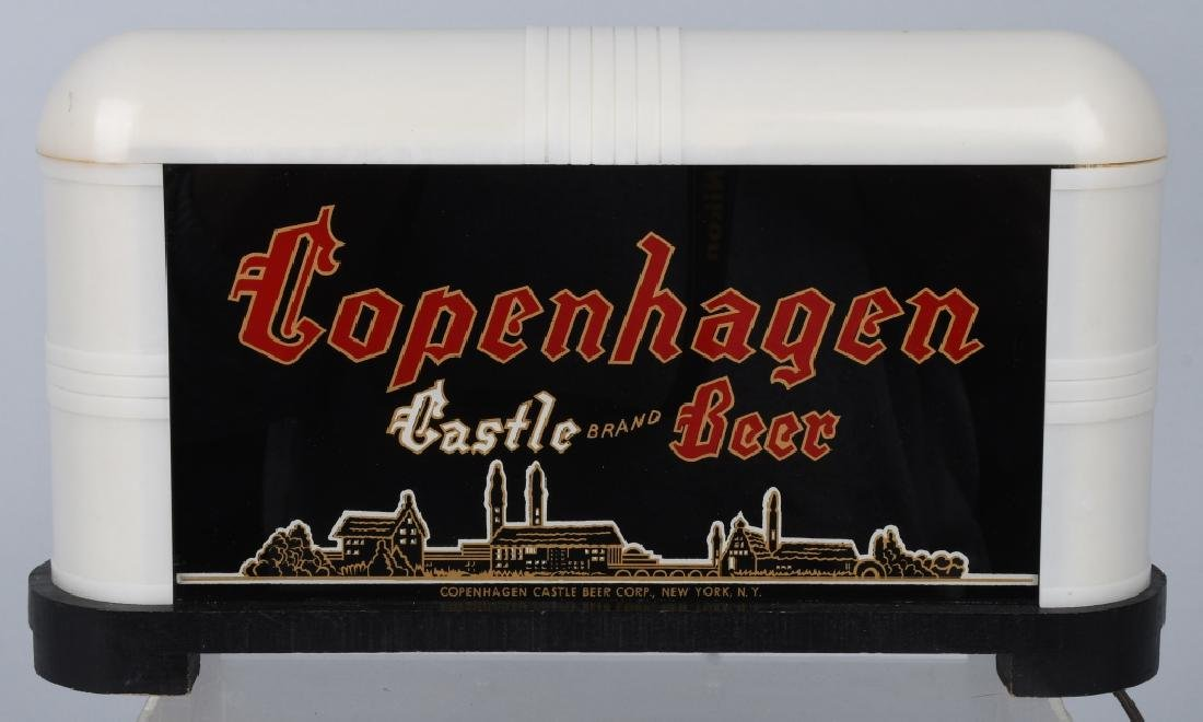 COPENHAGEN BEER REVERSE GLASS LIGHT-UP SIGN