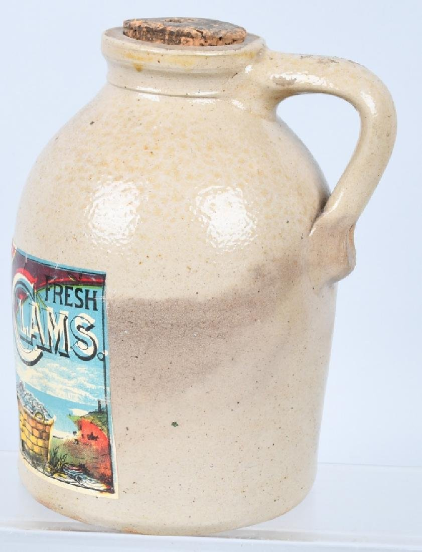 W.A. HOLT LITTLE NECK CLAMS STONEWARE JUG - 4