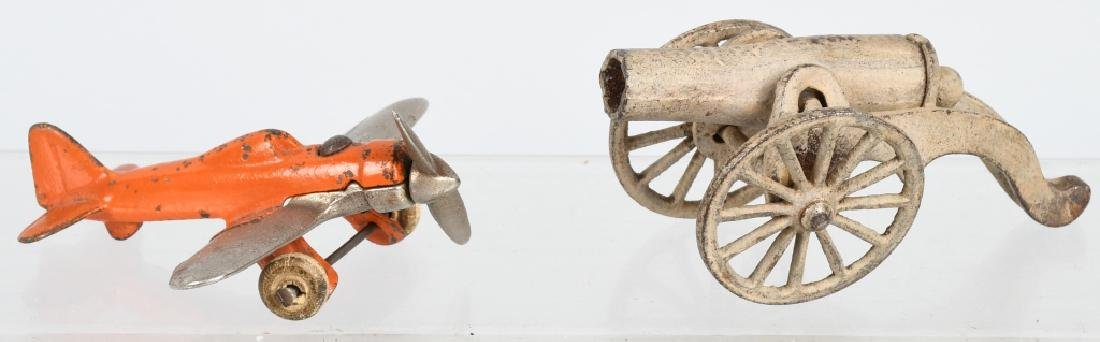 CAST IRON AIRPLANE & CANNON