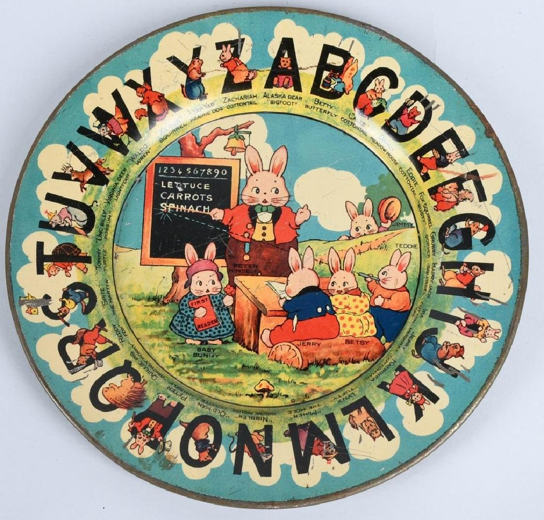 EARLY ABC PLATE, SANDPAIL, & MORE - 7