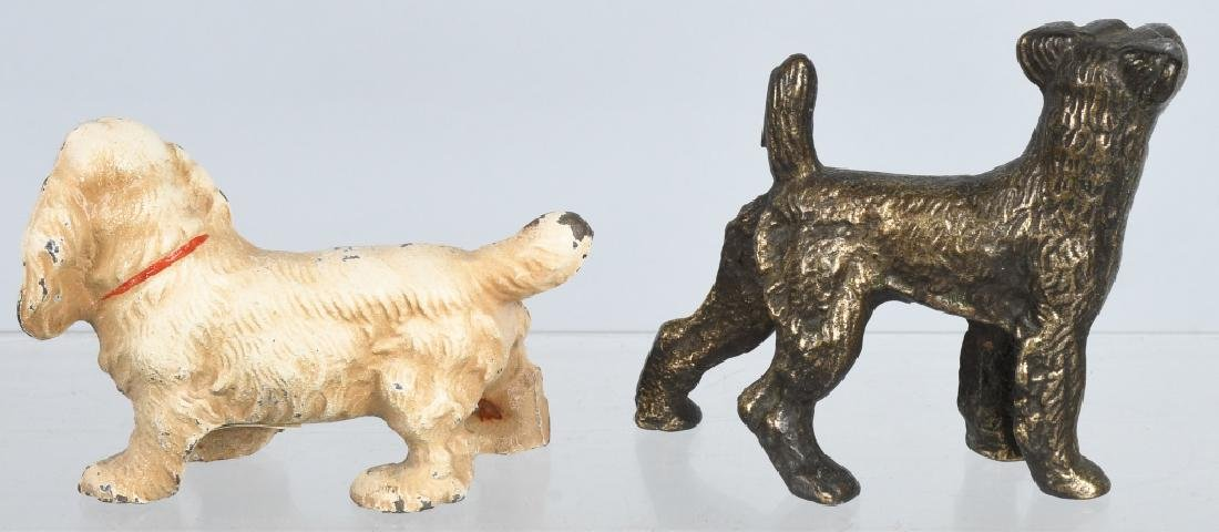 5-HUBLEY CAST IRON DOG PAPERWEIGHTS - 3
