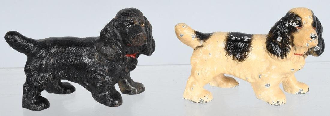 5-HUBLEY CAST IRON DOG PAPERWEIGHTS - 4