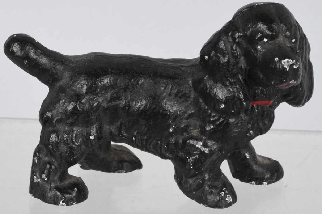5-HUBLEY CAST IRON DOG PAPERWEIGHTS - 6
