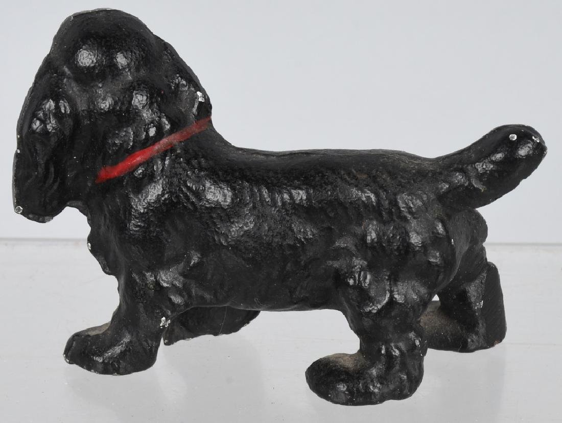 5-HUBLEY CAST IRON DOG PAPERWEIGHTS - 7
