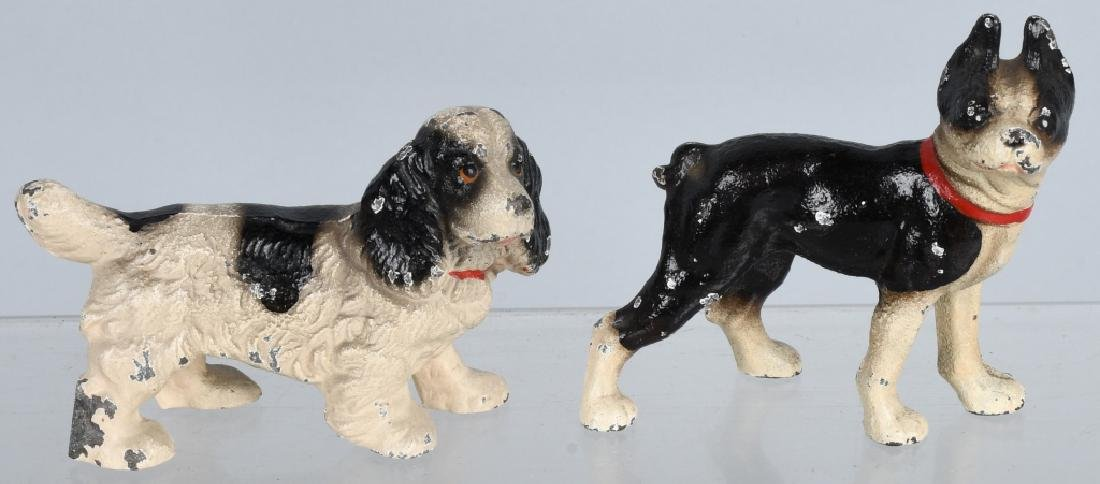 6-HUBLEY CAST IRON DOG PAPERWEIGHTS - 2