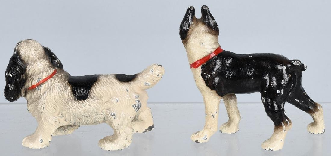 6-HUBLEY CAST IRON DOG PAPERWEIGHTS - 3