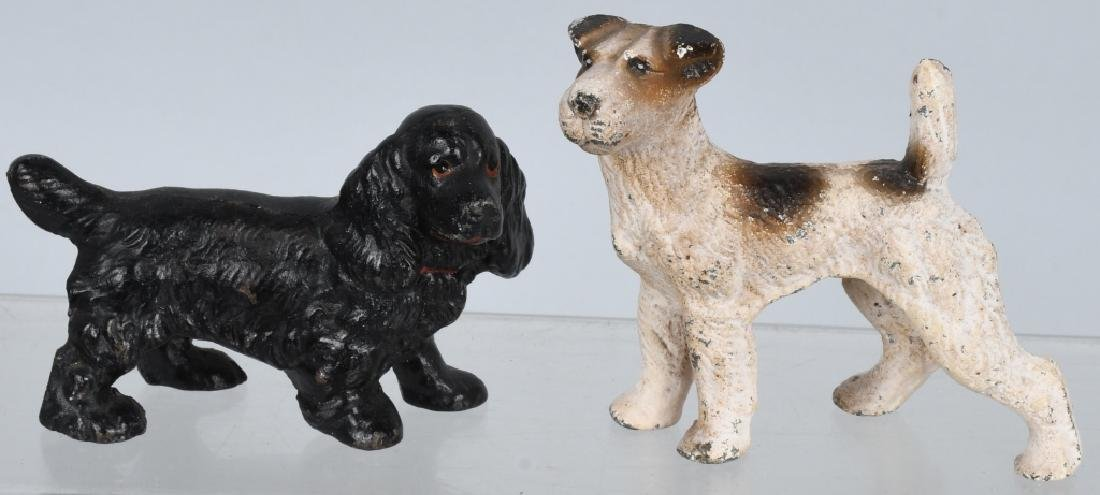 6-HUBLEY CAST IRON DOG PAPERWEIGHTS - 4