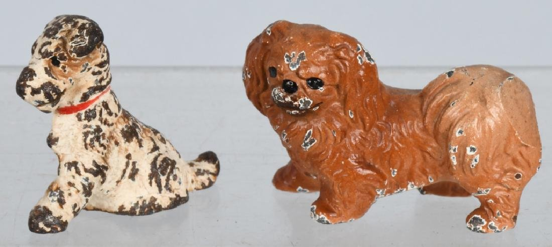 6-HUBLEY CAST IRON DOG PAPERWEIGHTS - 6