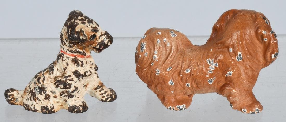 6-HUBLEY CAST IRON DOG PAPERWEIGHTS - 7