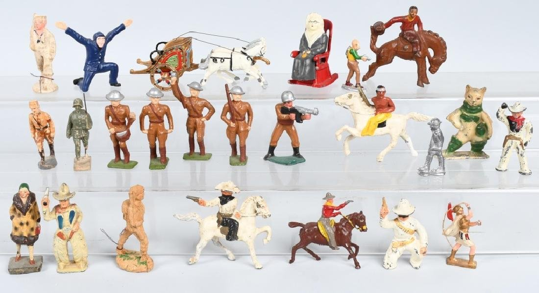 LOT OF TOY SOLDIERS, COWBOYS, & MORE