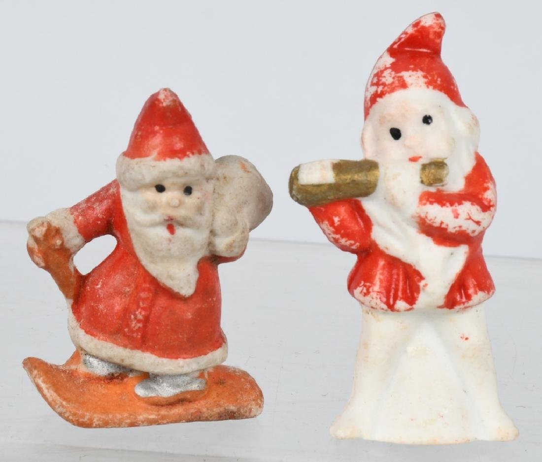 4- CHRISTMAS SANTA CLAUS BISQUE FIGURES - 4