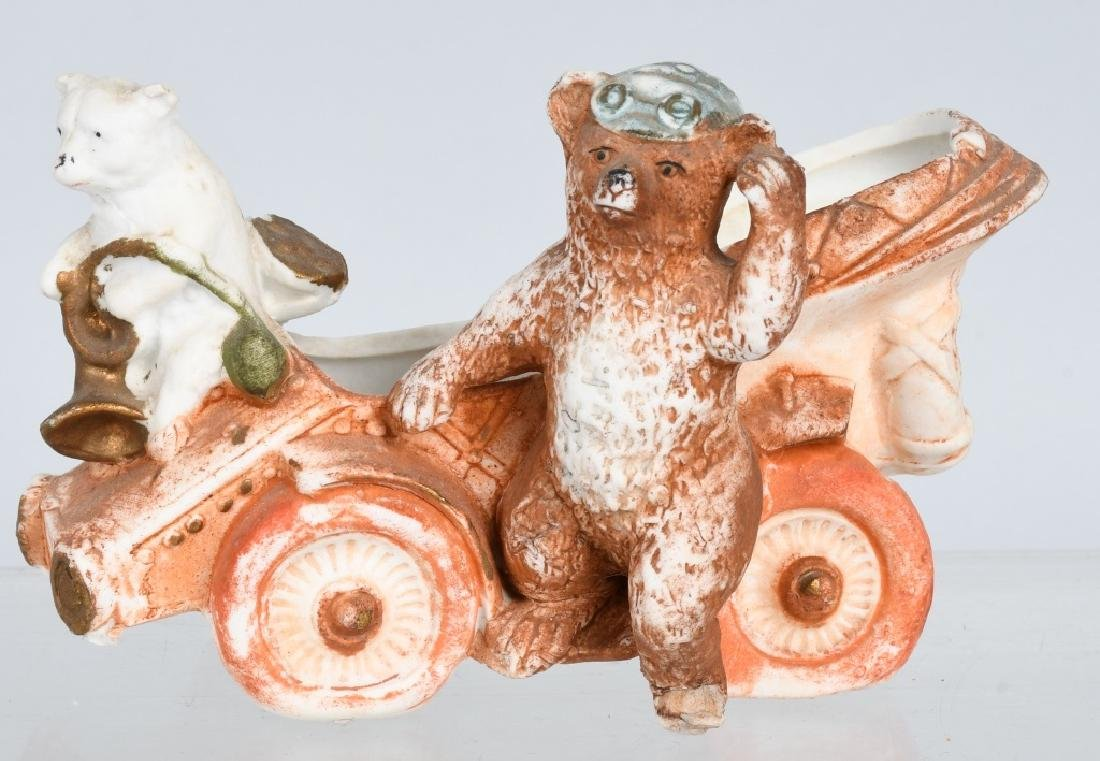 4- LARGE BISQUE FIGURES INDIAN, BEARS, & MORE - 2