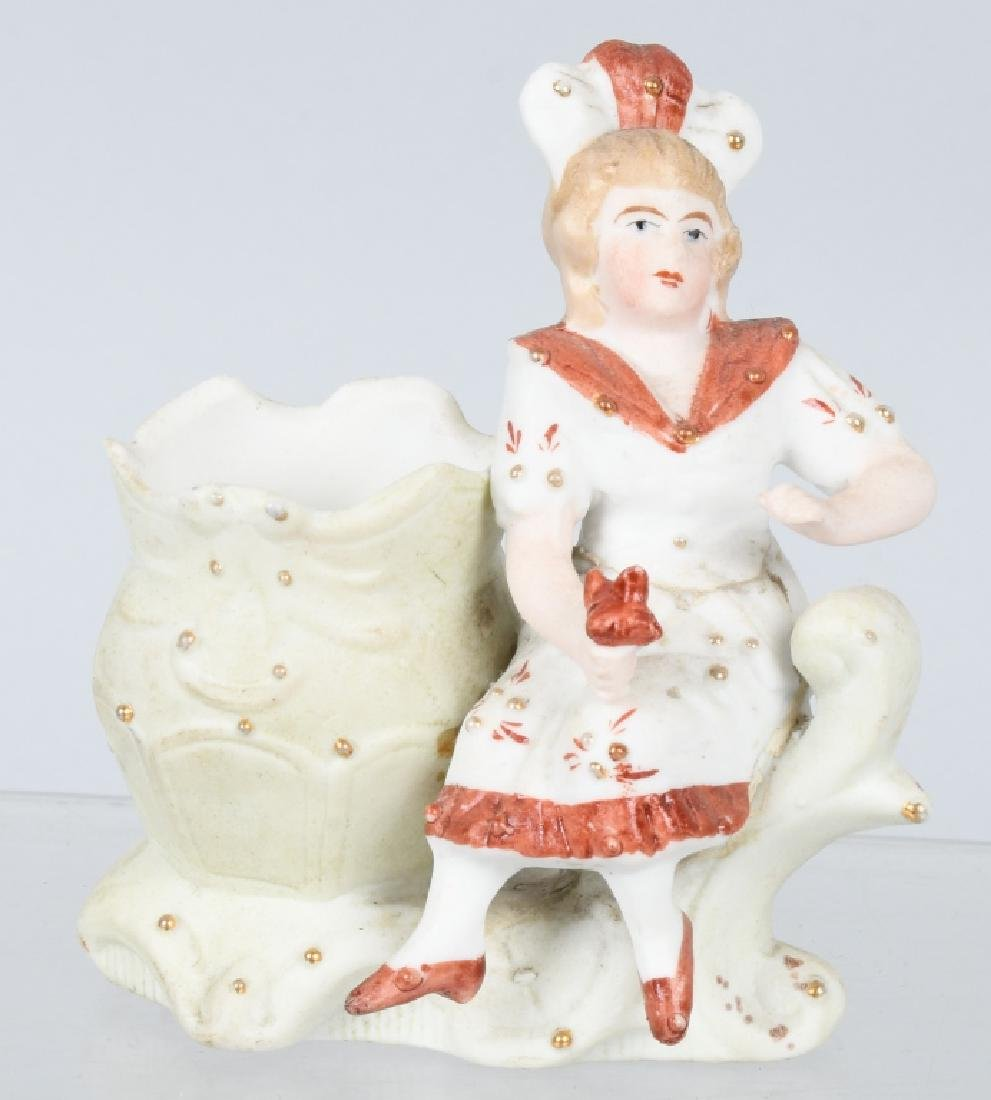 4- LARGE BISQUE FIGURES INDIAN, BEARS, & MORE - 6