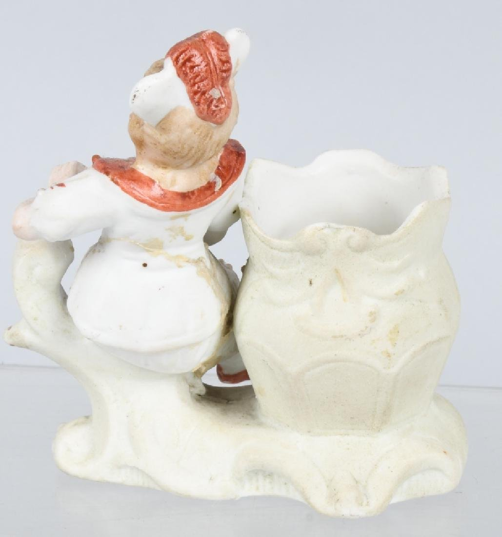 4- LARGE BISQUE FIGURES INDIAN, BEARS, & MORE - 7