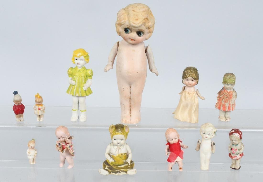 LOT OF BISQUE DOLLS