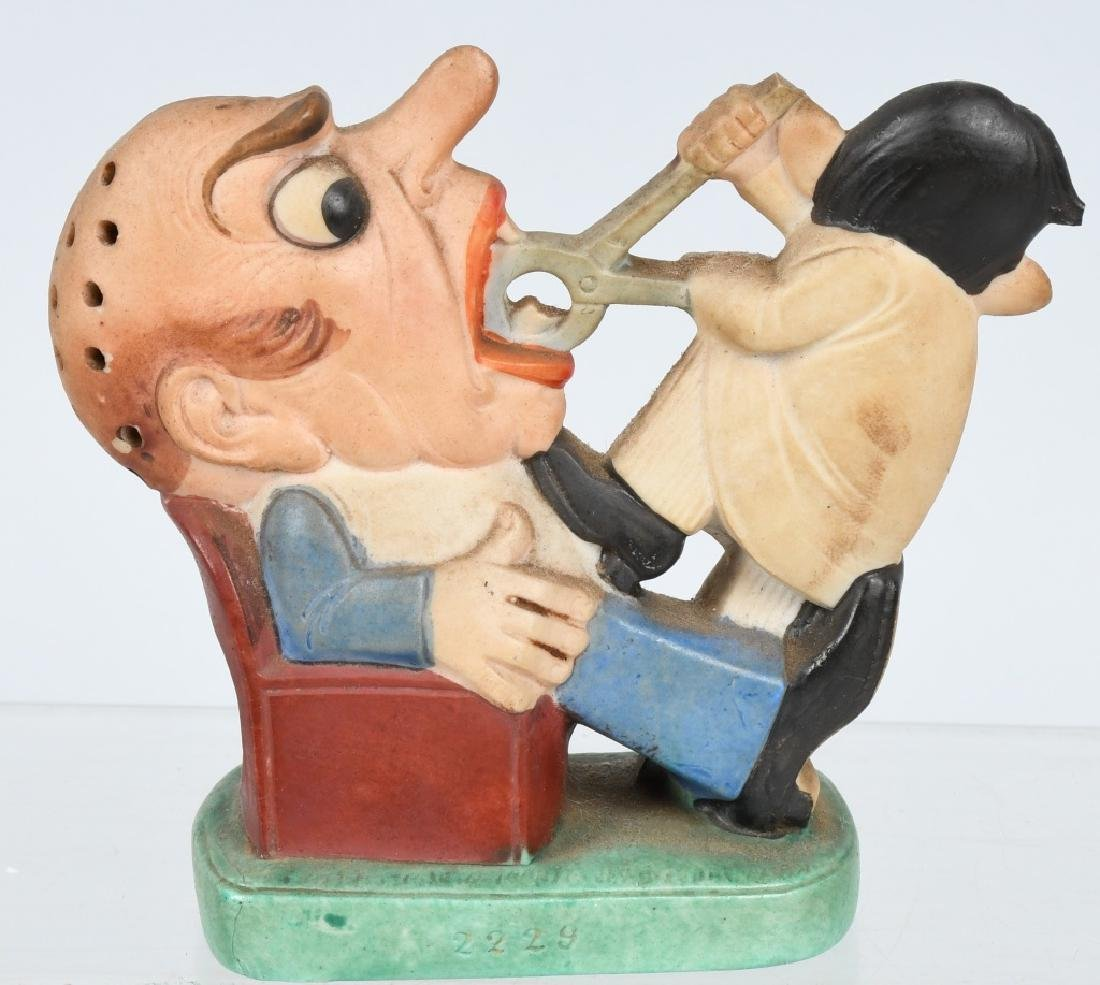 COMICAL DENTIST PULLING TOOTH BISQUE FIGURE - 2