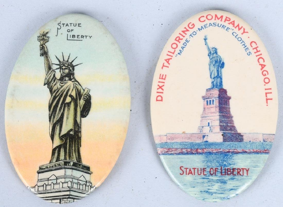 2- STATUE OF LIBERTY ADVERTISING POCKET MIRRORS