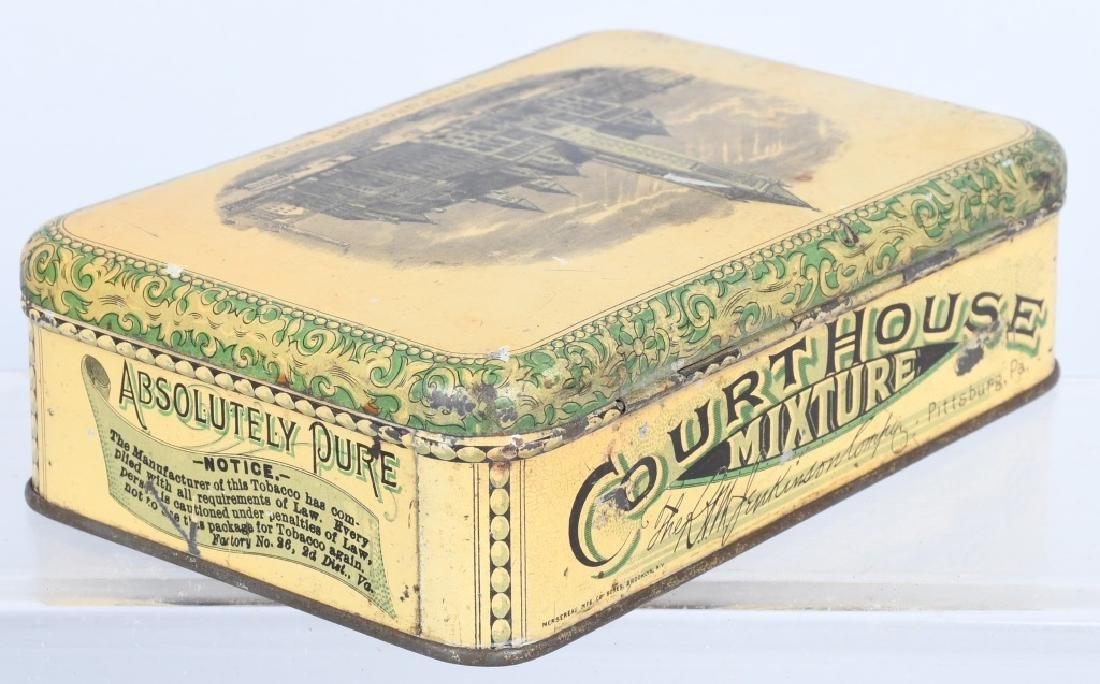 COURT HOUSE MICTURE TOBACCO TIN - 3