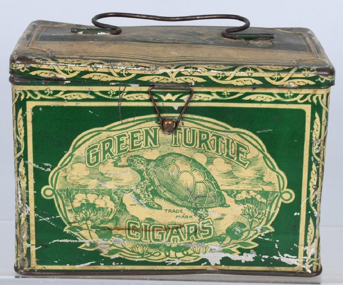 GREEN TURTLE CIGARS LUNCH BOX TIN