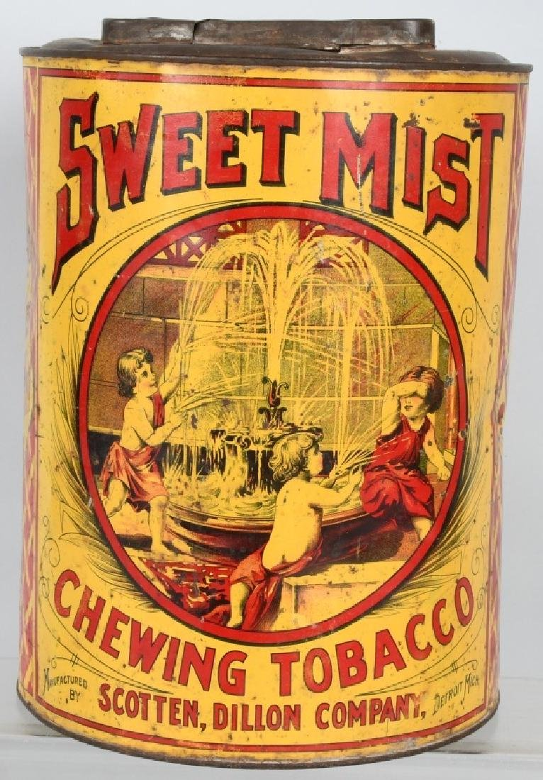 SWEET MIST CHEWING TOBACCO STORE TIN