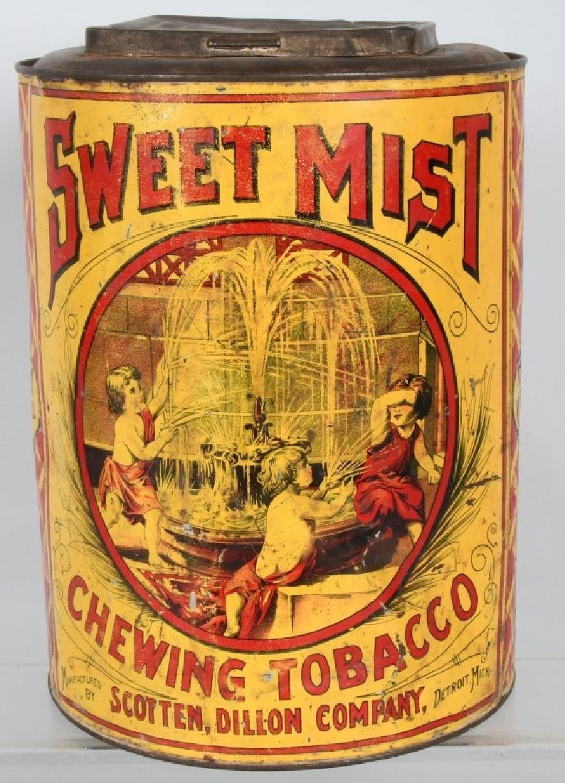 SWEET MIST CHEWING TOBACCO STORE TIN - 3