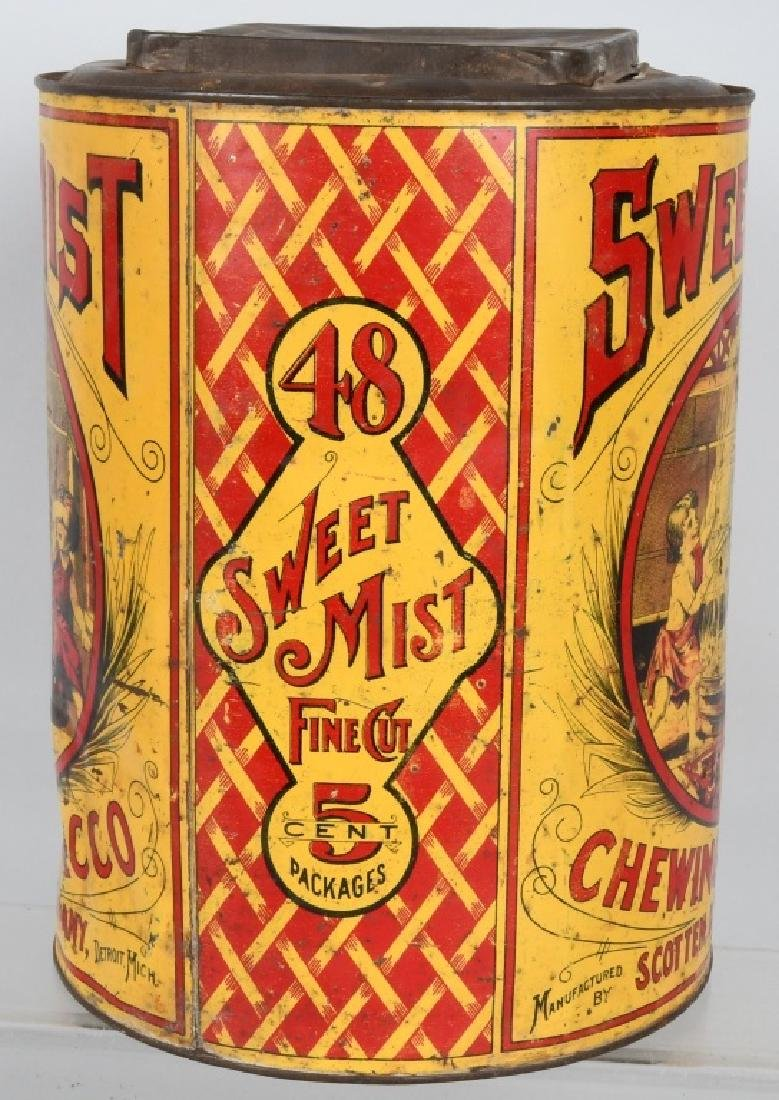 SWEET MIST CHEWING TOBACCO STORE TIN - 4