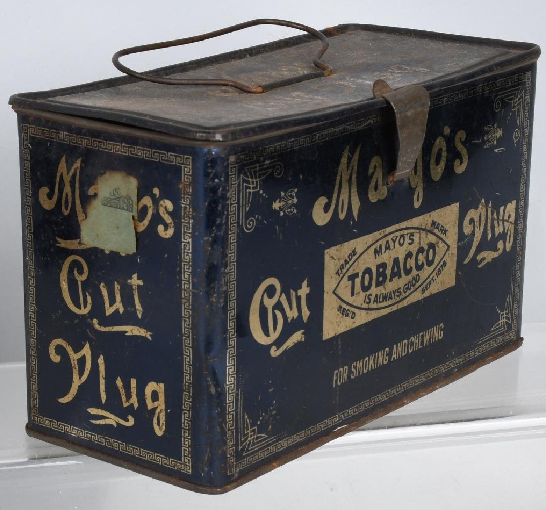 PLOW BOY & MAYO TOBACCO LUNCH BOX TINS - 2