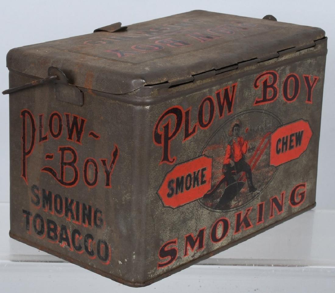 PLOW BOY & MAYO TOBACCO LUNCH BOX TINS - 5