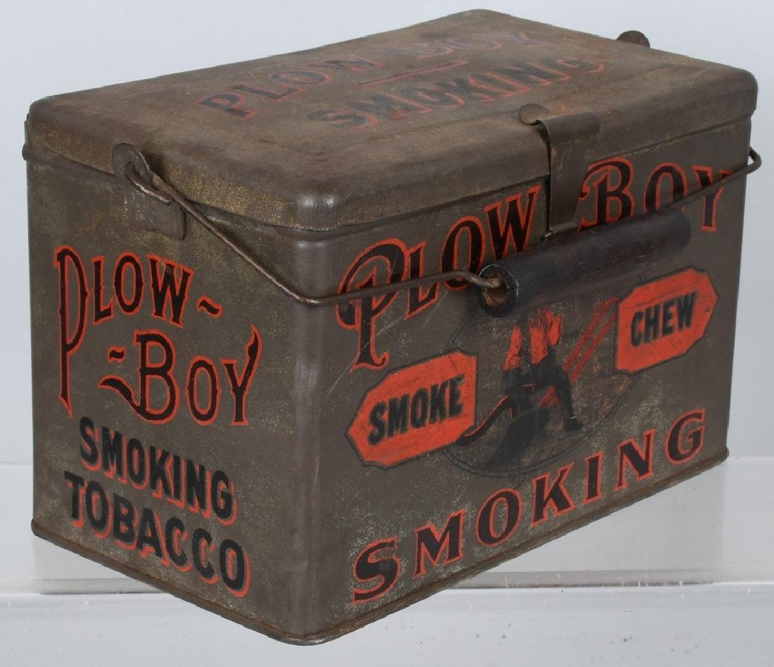 PLOW BOY & MAYO TOBACCO LUNCH BOX TINS - 6
