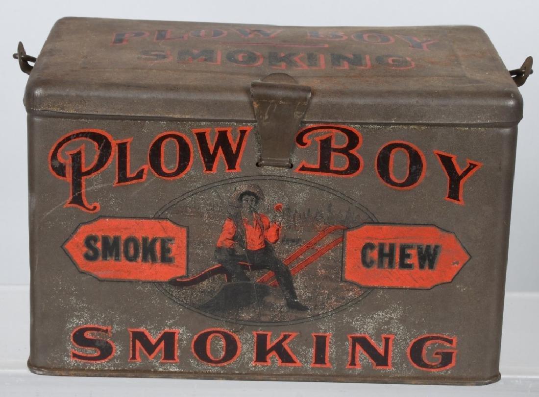 PLOW BOY & MAYO TOBACCO LUNCH BOX TINS - 7