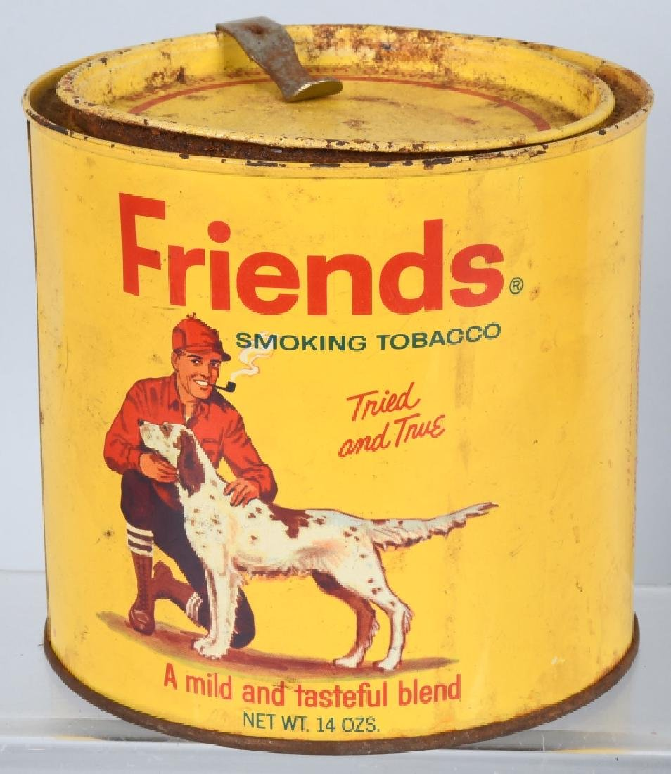 FRIENDS & UNION LEADER TOBACCO TINS - 2