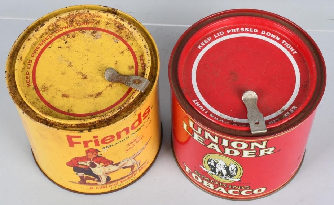 FRIENDS & UNION LEADER TOBACCO TINS - 6