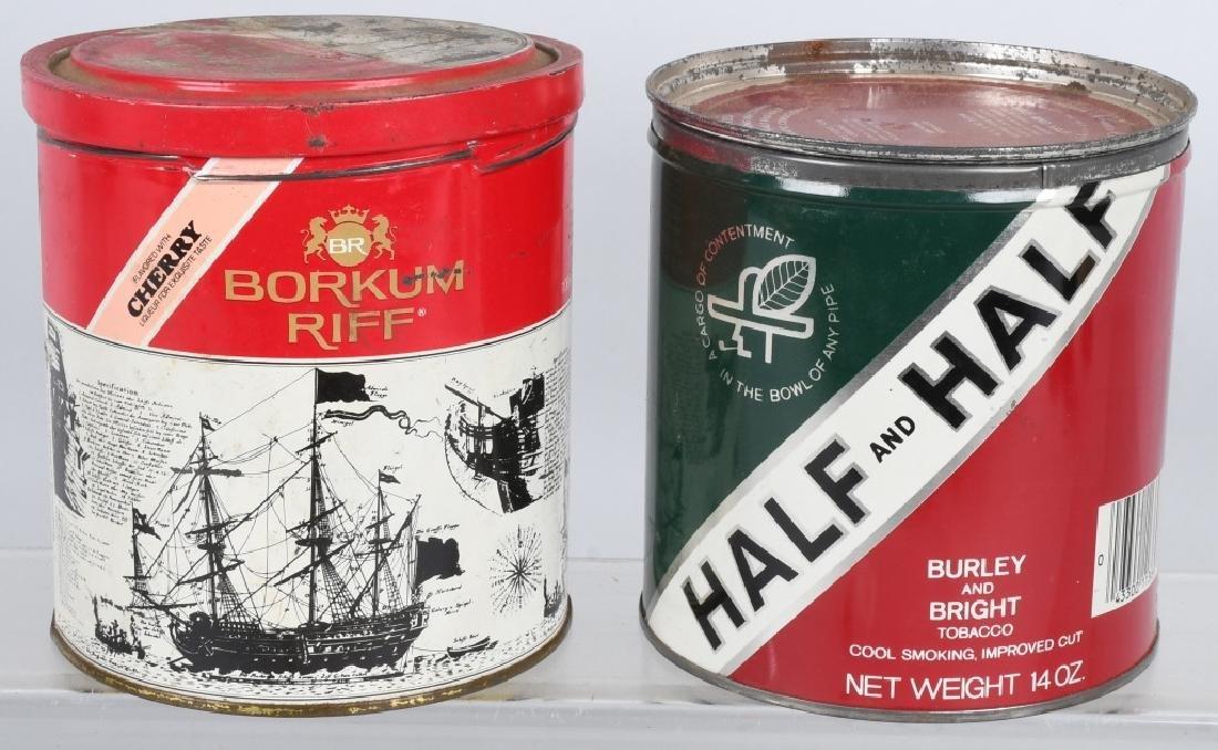 BORKUN RIFF & HALF AND HALF TOBACCO TINS