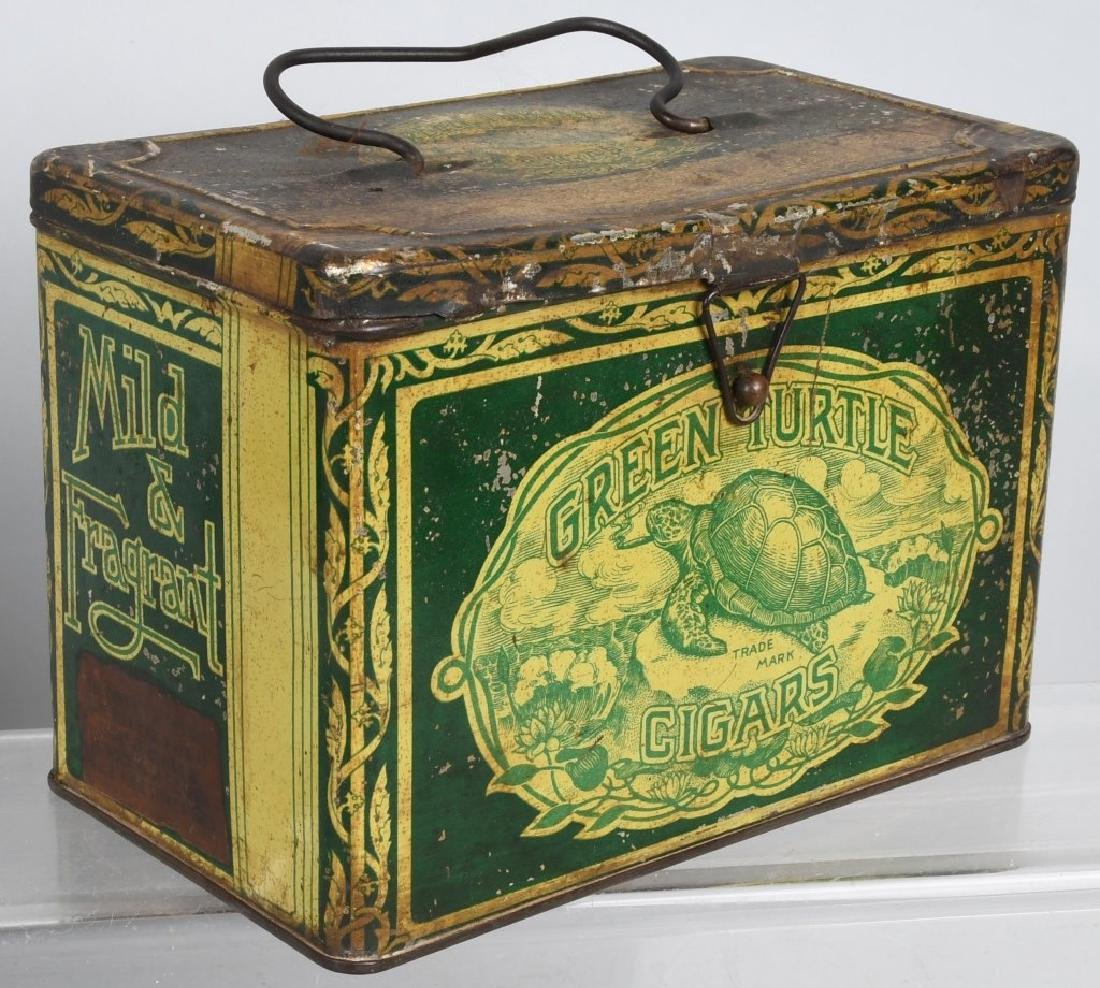 GREEN TIRTLE & MAYO TOBACCO LUNCH BOX TINS - 2