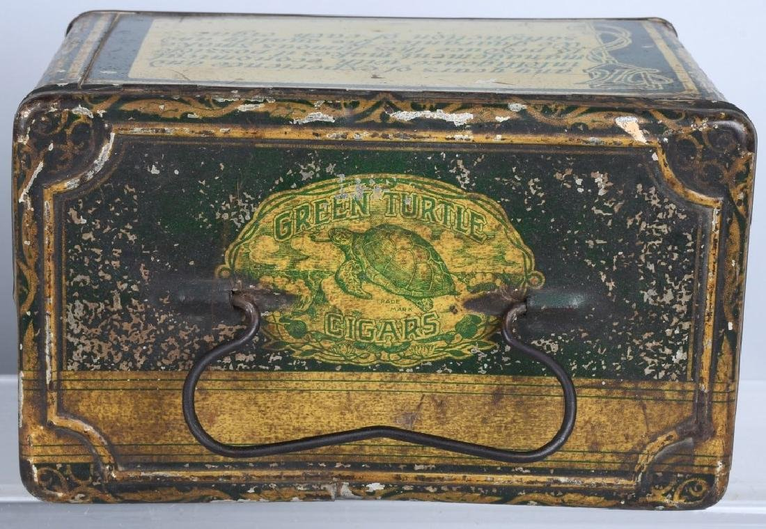 GREEN TIRTLE & MAYO TOBACCO LUNCH BOX TINS - 4