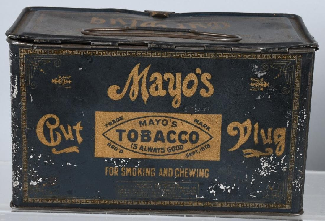GREEN TIRTLE & MAYO TOBACCO LUNCH BOX TINS - 5