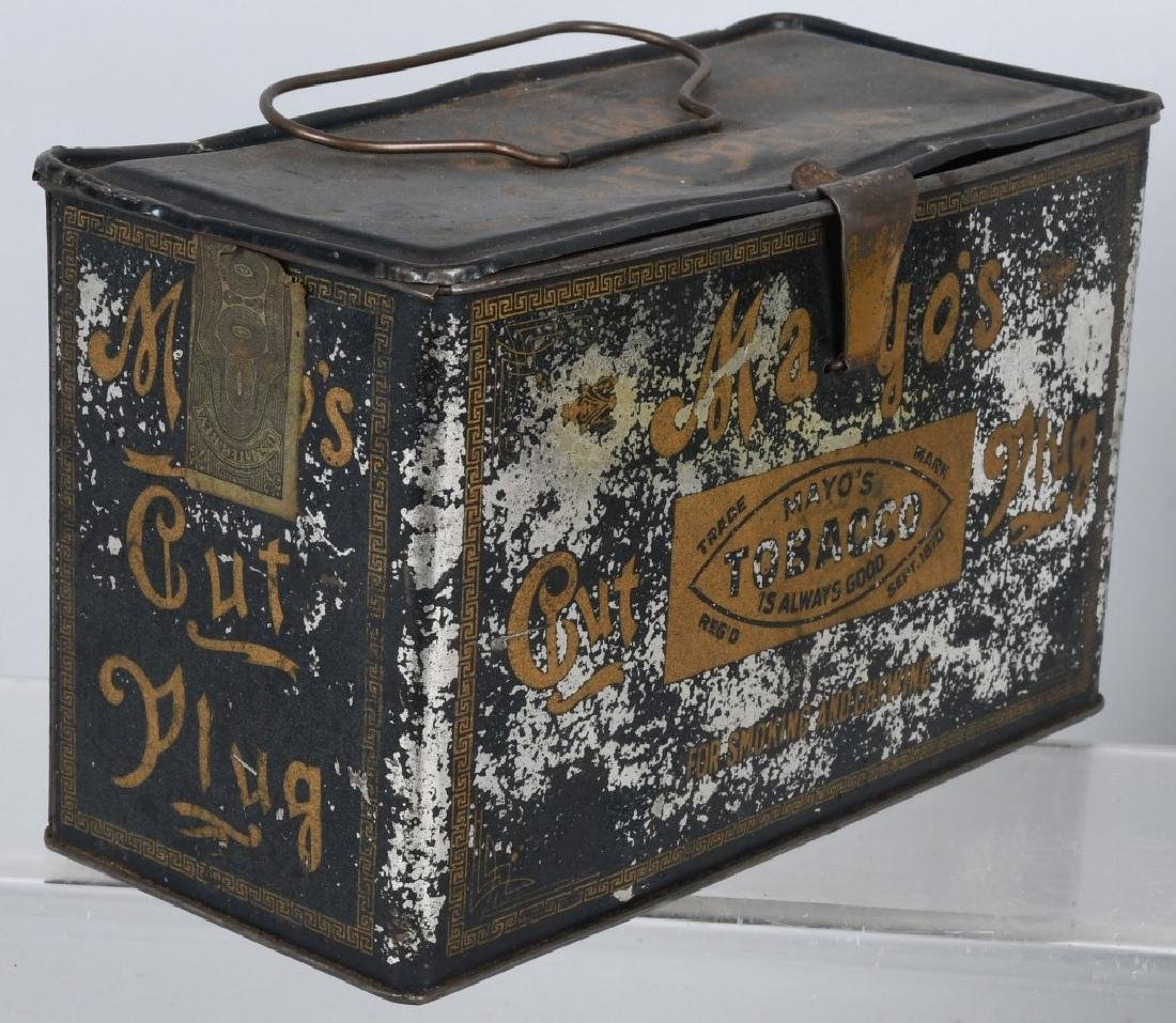 GREEN TIRTLE & MAYO TOBACCO LUNCH BOX TINS - 6