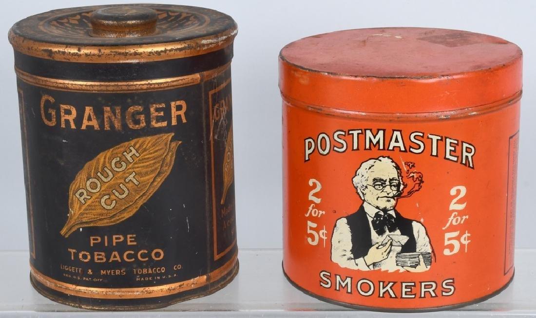POSTMASTER & GRANGER TOBACCO TINS